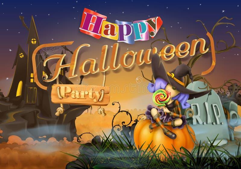 Partie heureuse de Halloween illustration de vecteur