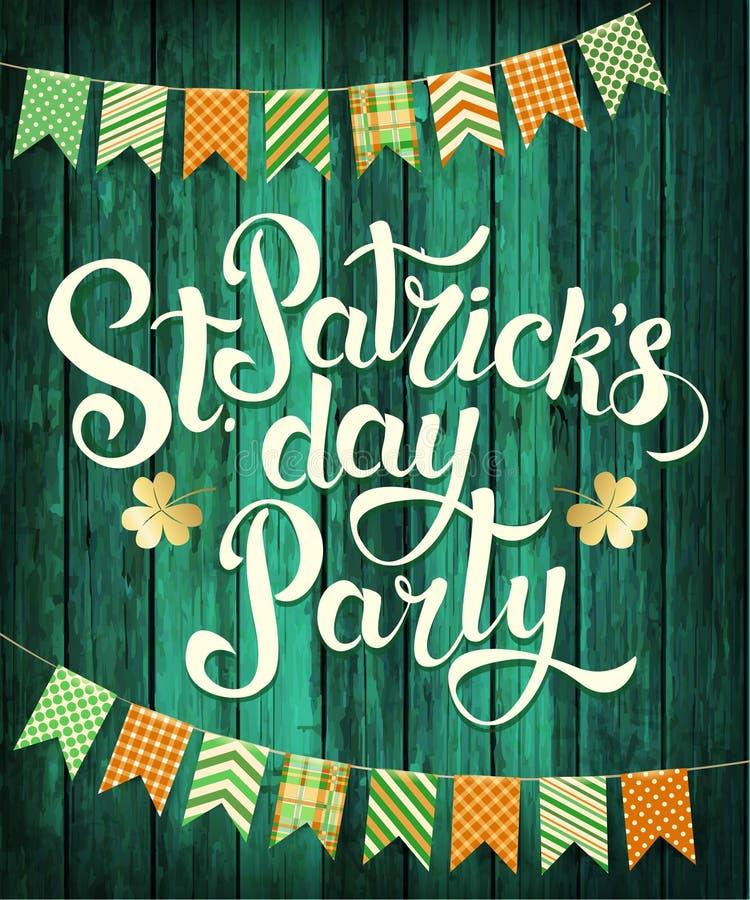 Partie heureuse de jour du ` s de St Patrick illustration libre de droits