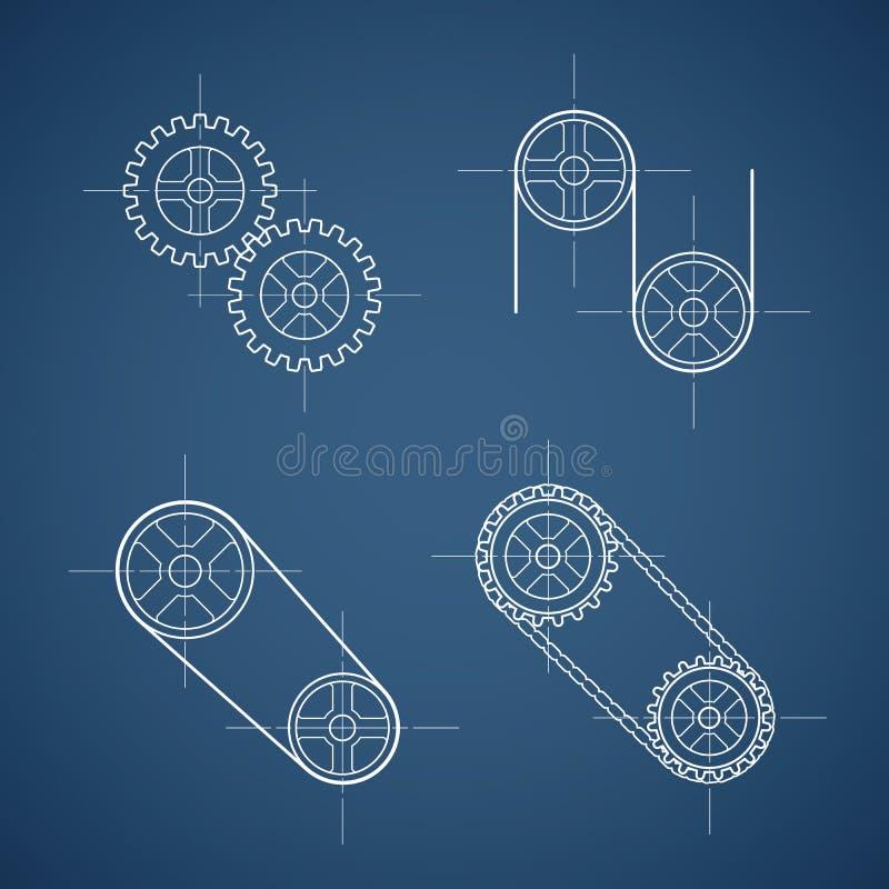 Download Partie mécanique illustration de vecteur. Illustration du mécanique - 76081555
