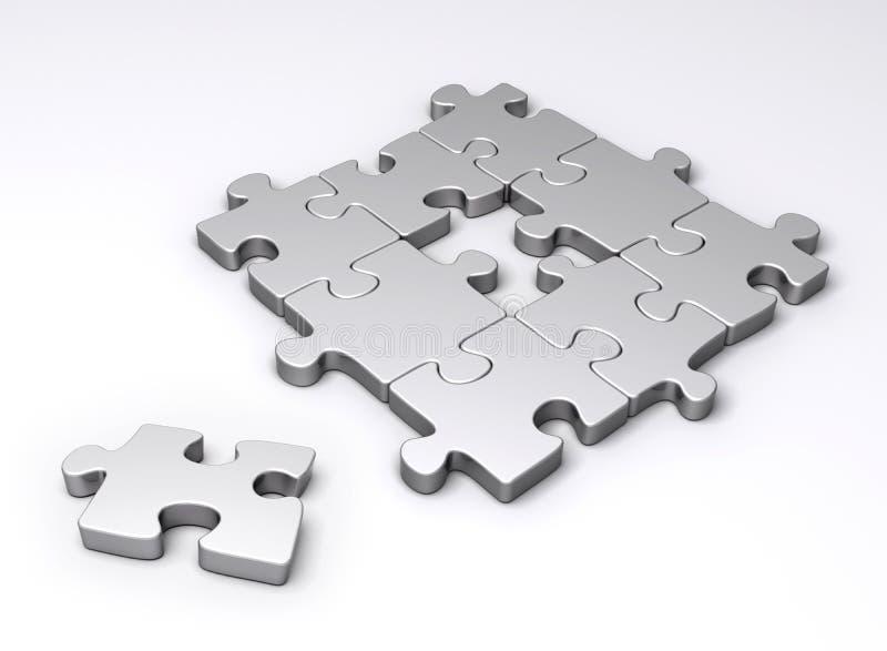 Partie manquante de puzzle illustration libre de droits