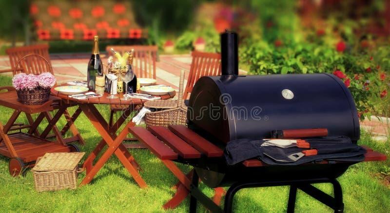 Partie ou pique-nique de BBQ d'été photos stock