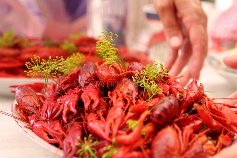 Partie Suède d'écrevisses et de homard photo stock