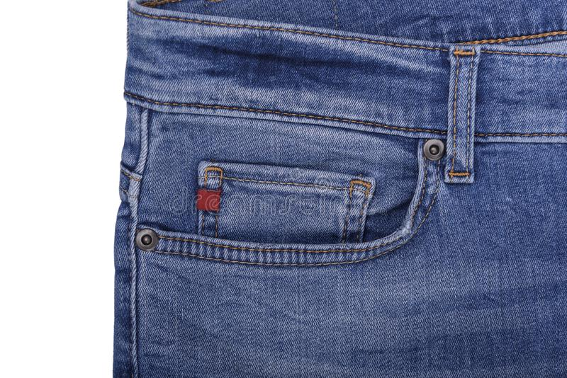 Partie supérieure de jeans de la poche images stock