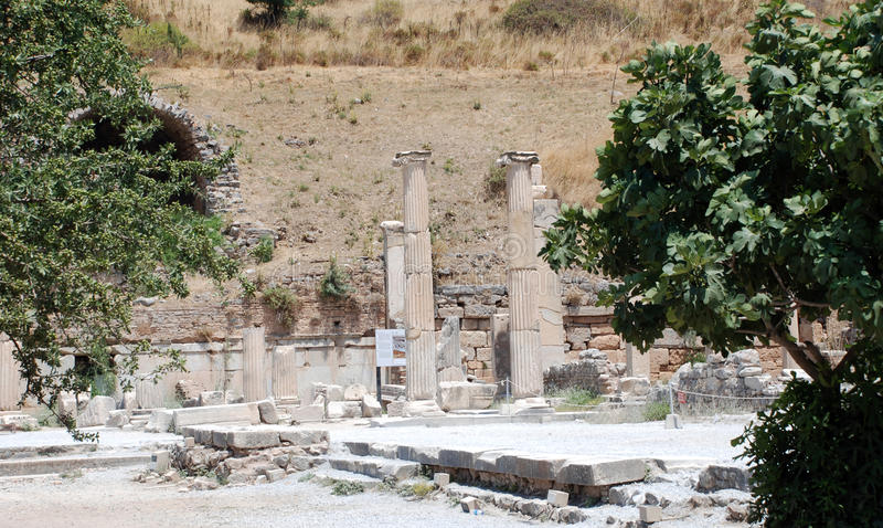 Partie sur la localité d'Ephesus, Izmir, Turquie photographie stock libre de droits