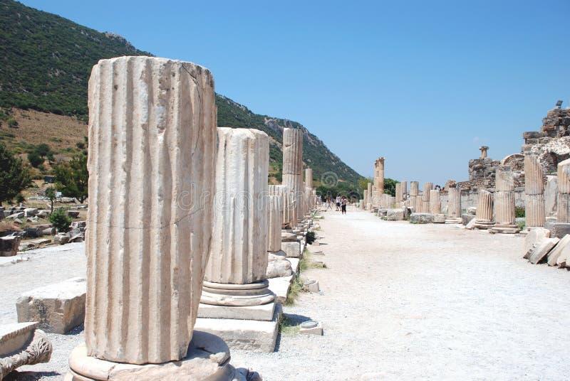 Partie sur la localité d'Ephesus, Izmir, Turquie photos libres de droits