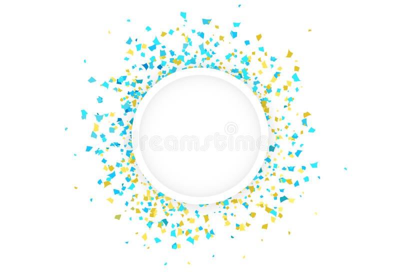 Partie t de célébration d'explosion de dispersion de papier d'anneau de cercle de confettis illustration de vecteur