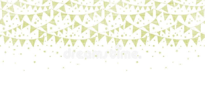 Partie verte de textile donnant un petit coup sans couture horizontal illustration stock