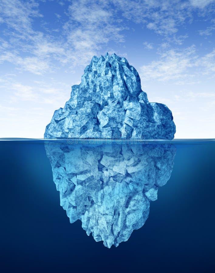 Parties émergées de l'iceberg photos libres de droits