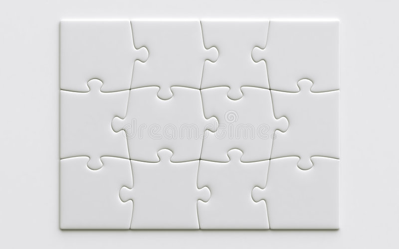 Parties blanc de puzzle illustration stock