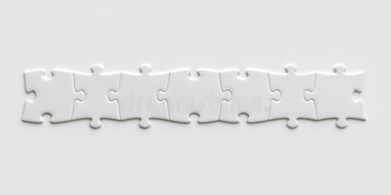 Parties blanc de puzzle illustration libre de droits