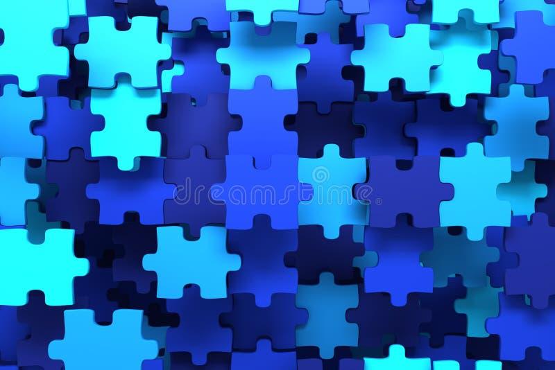 Parties bleues de puzzle illustration libre de droits