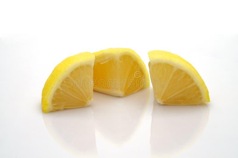 Parties coupées de citron photo libre de droits