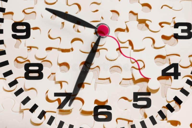 Parties d'horloge et de casse-tête photo libre de droits