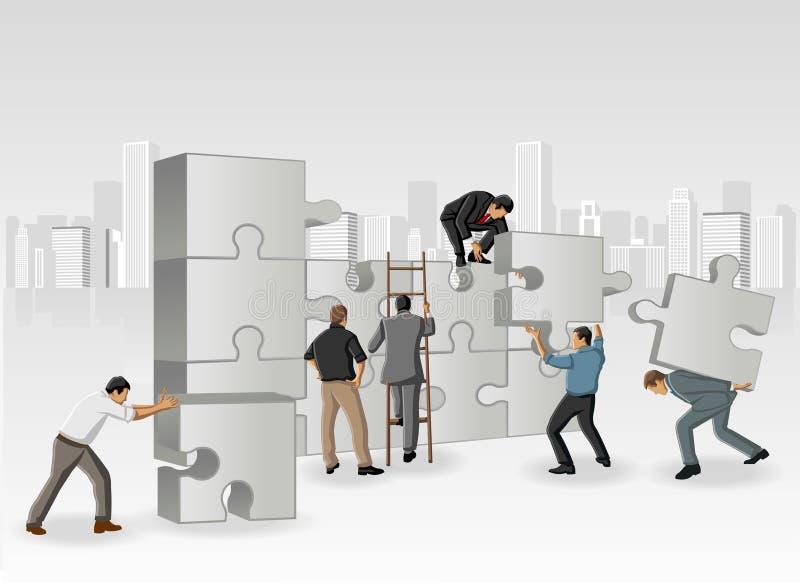Parties d'un puzzle illustration libre de droits