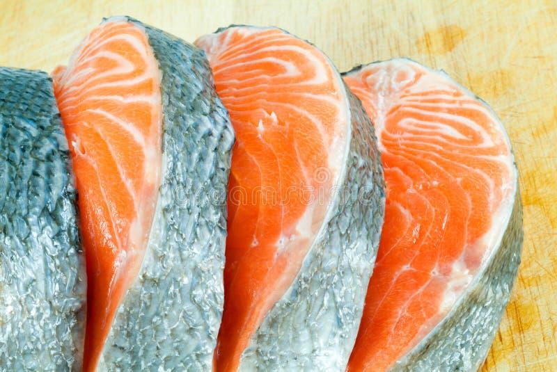 Parties d'un saumon photographie stock