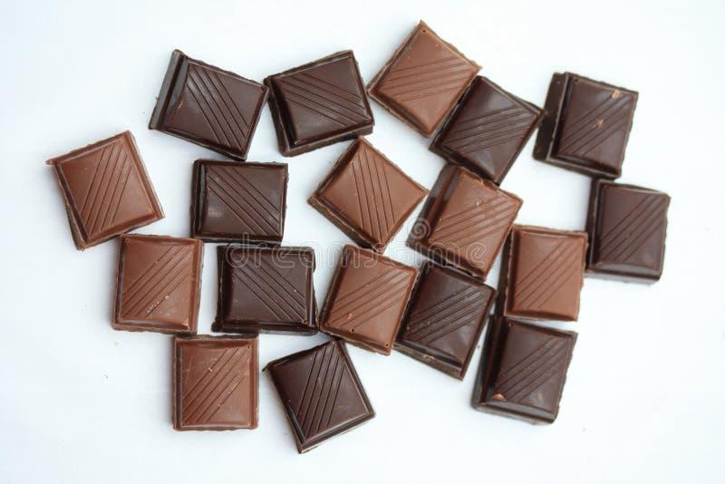 Parties de bar de chocolat photographie stock