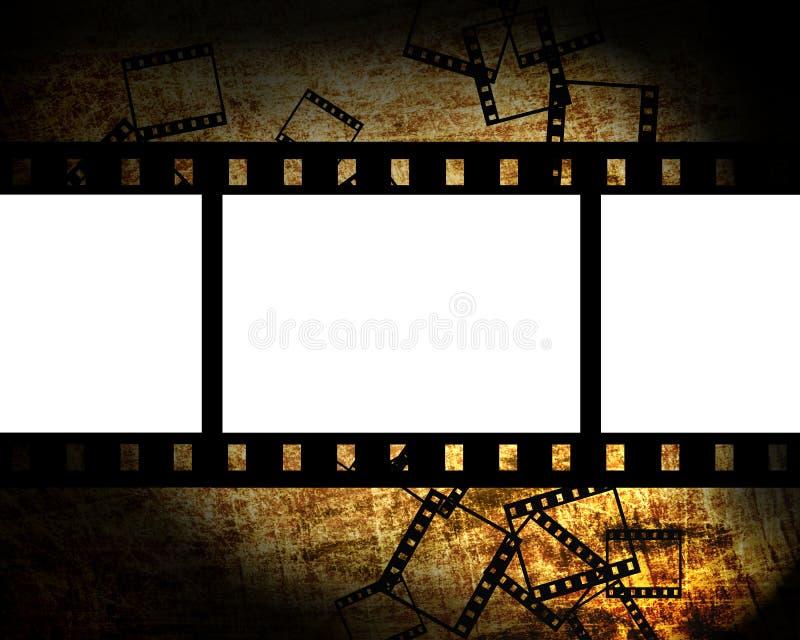 Parties de film sur le fond grunge illustration de vecteur