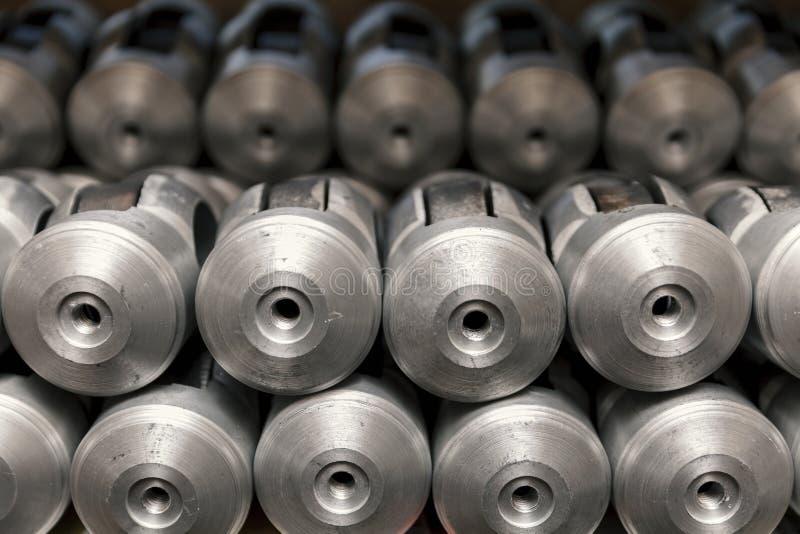 Parties de fonte d'aluminium image libre de droits