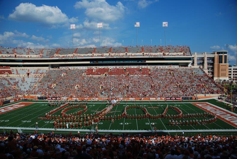 Parties de football d'université de longhorns du Texas photo stock