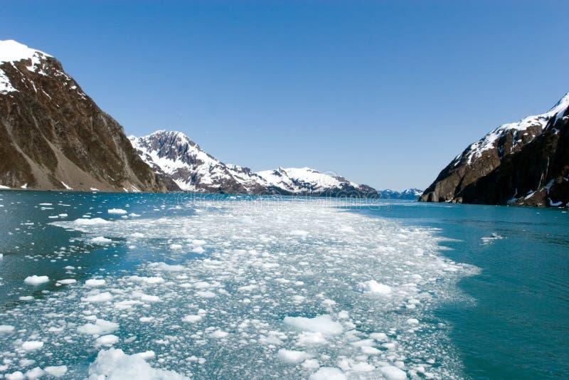 Parties de glacier dans l'océan image stock