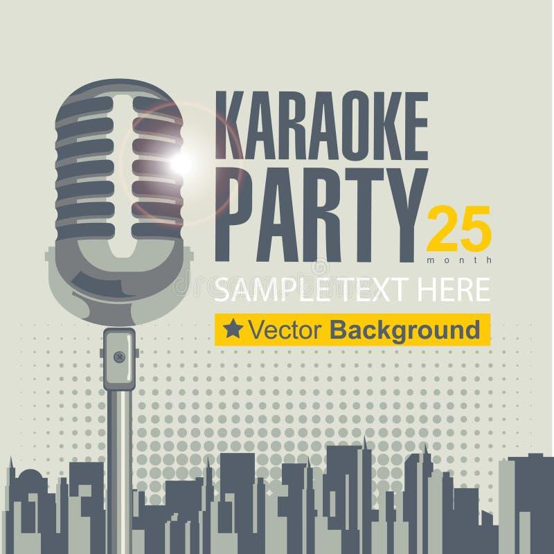 parties de karaoke illustration stock