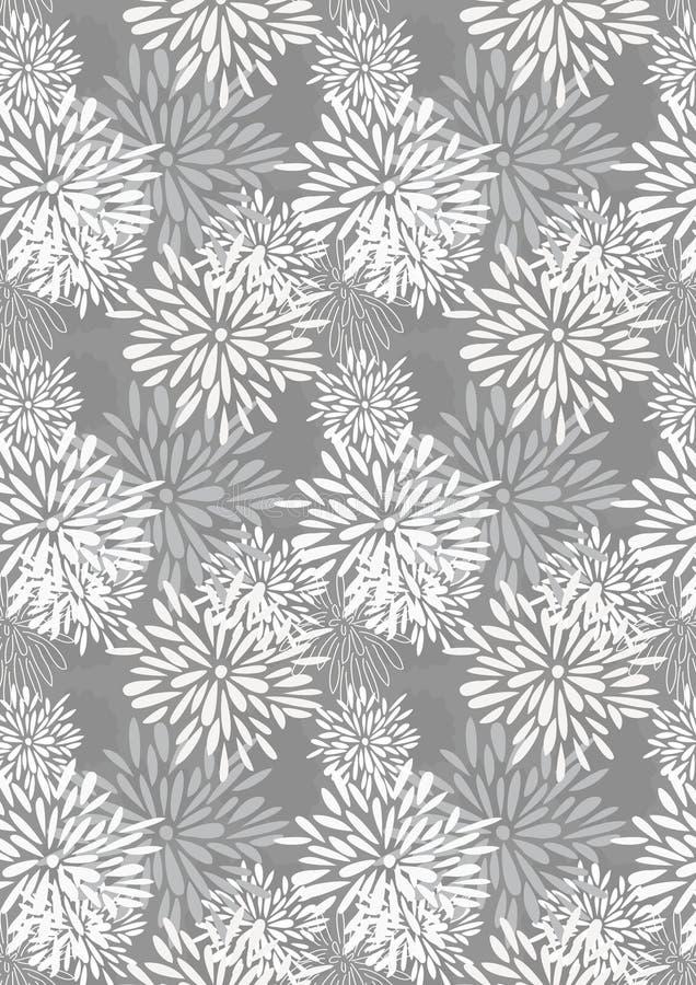 Parties de pétale de fleur élevant la configuration illustration stock