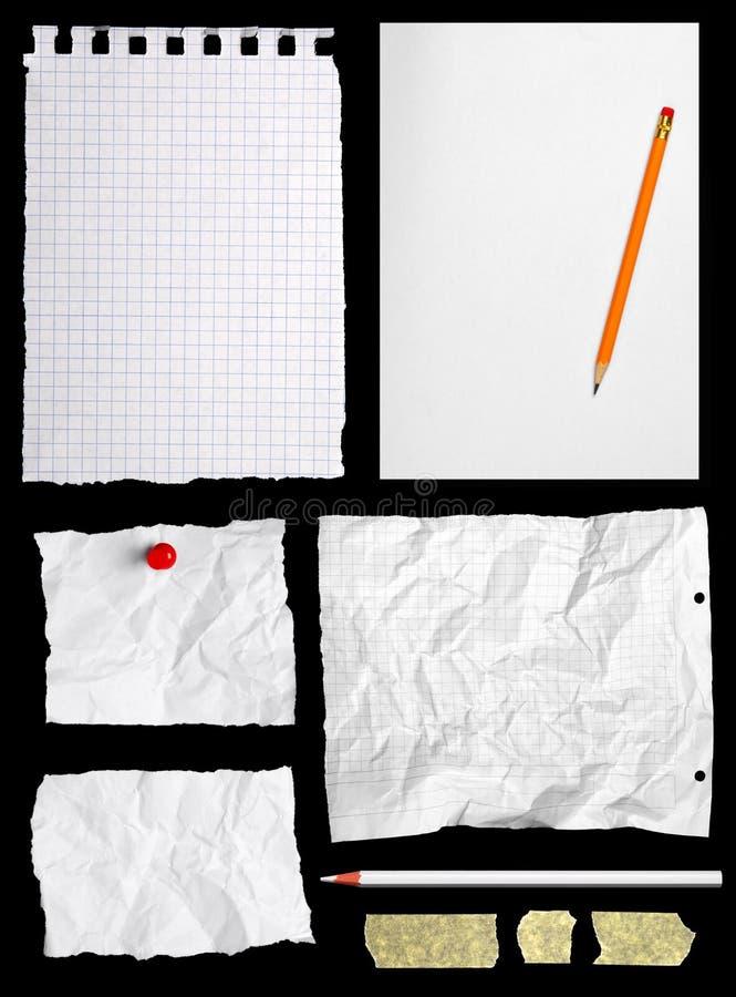 Parties de papier à lettres photographie stock