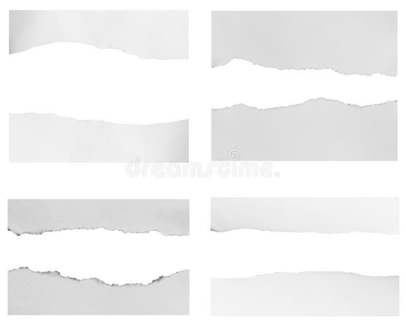 Parties de papier déchiré image stock