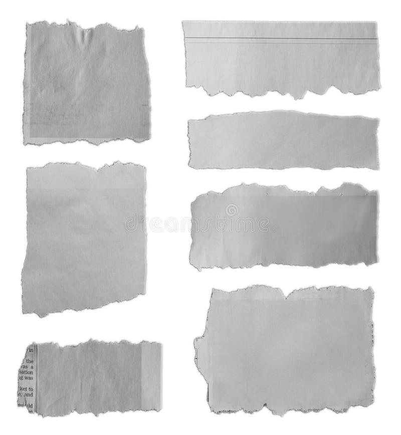 Parties de papier déchirées photos libres de droits