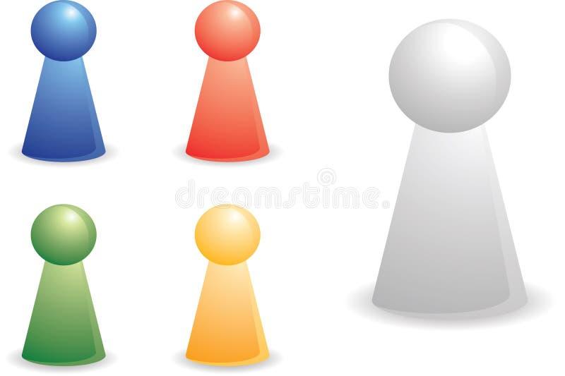 parties de personne de couleur illustration stock