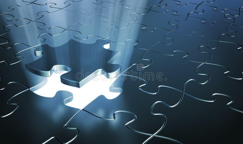 Parties de puzzle illustration stock
