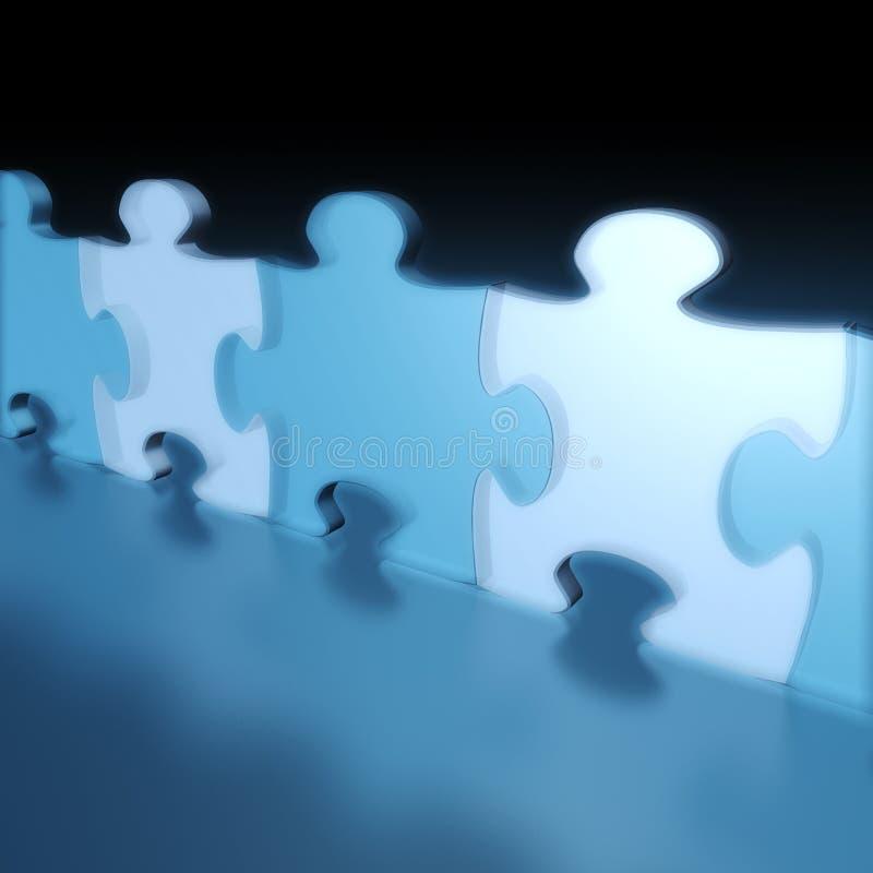 Parties de puzzle images libres de droits