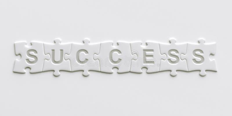 Parties de puzzle avec le texte écrit sur eux illustration de vecteur
