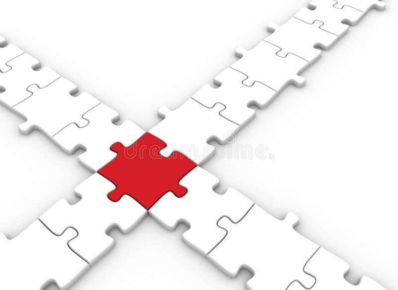 Parties de puzzle connectées illustration de vecteur