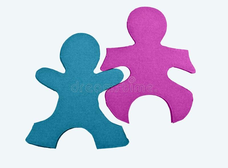Parties de puzzle de gens abstraits d'isolement image libre de droits