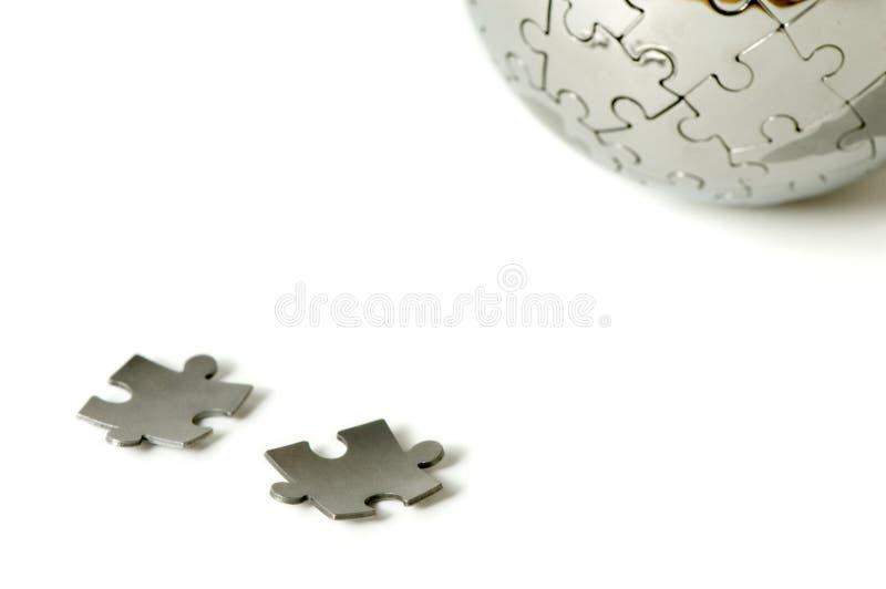 Parties et monde de puzzle image libre de droits