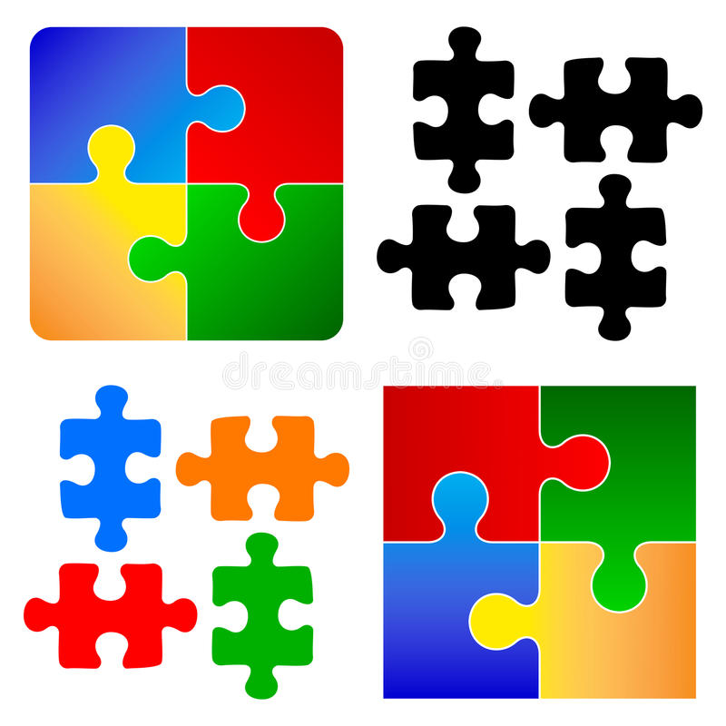 Parties fondamentales de puzzle illustration de vecteur