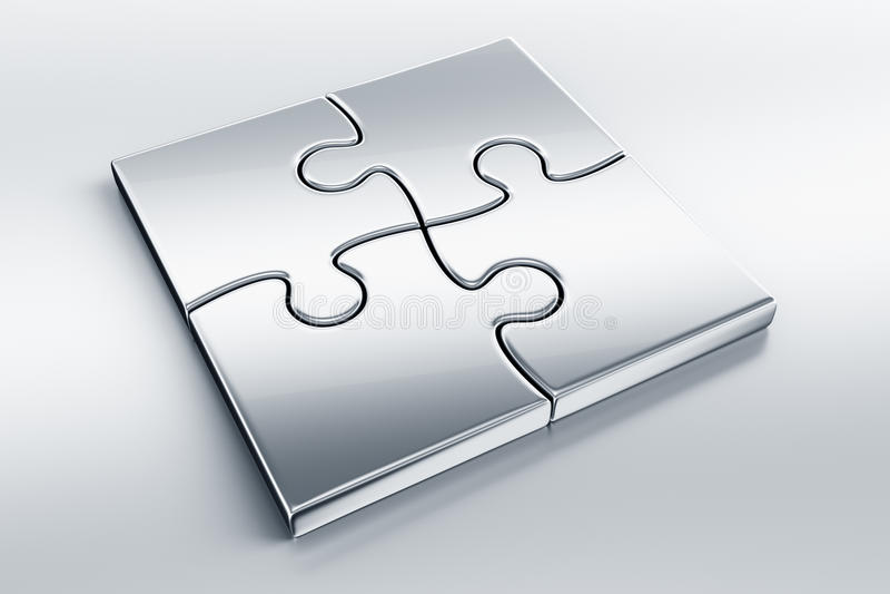Parties métalliques de puzzle illustration de vecteur