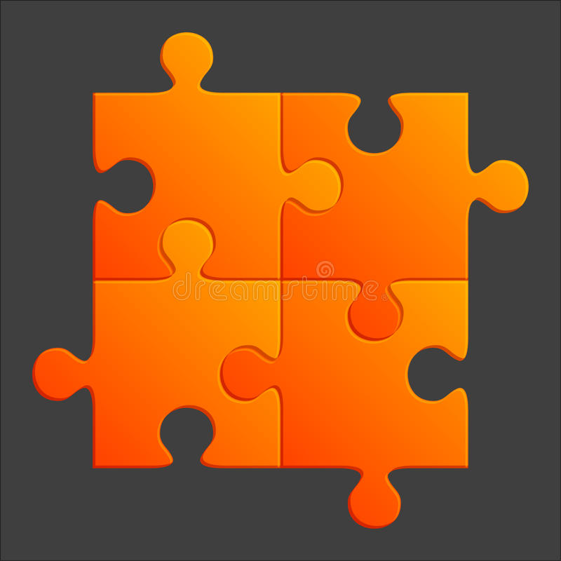 Parties oranges de puzzle illustration de vecteur