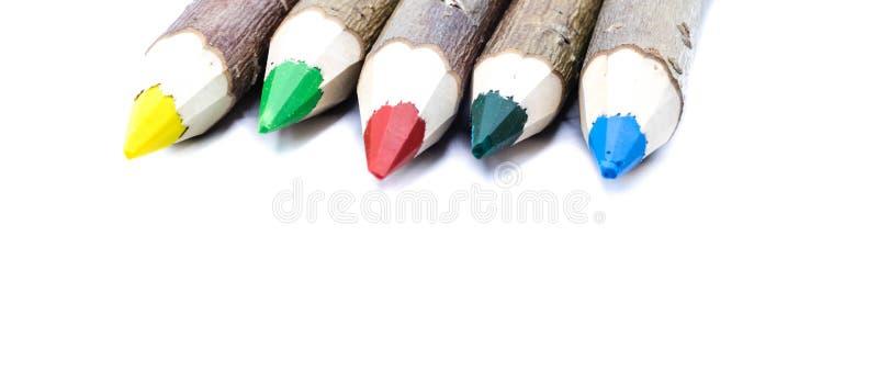 Parties symboliques de couleurs de crayons colorés photographie stock libre de droits