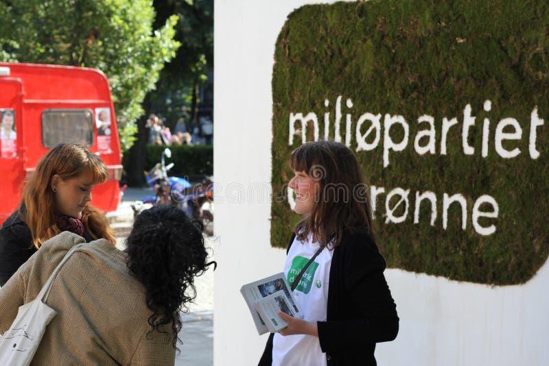 Partii Zielonej kampanii stojak obraz royalty free