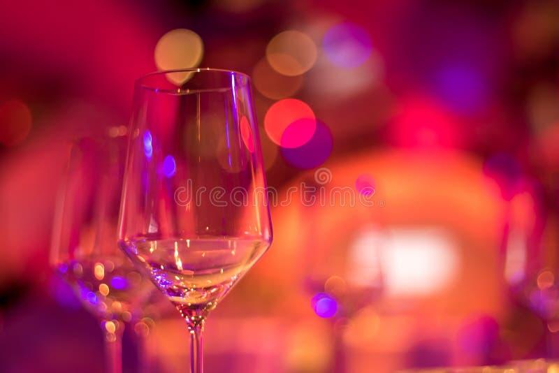 Partij die met Kleurrijke Bokeh-Achtergrond plaatst royalty-vrije stock foto