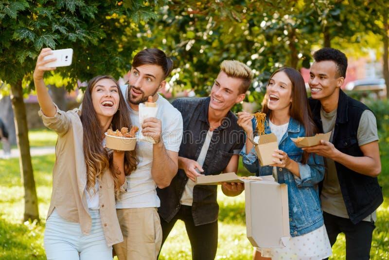 Partij met beste vrienden royalty-vrije stock foto