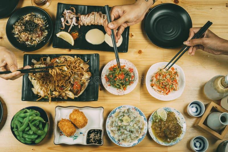 Partij met Japanse voedselstijl royalty-vrije stock fotografie