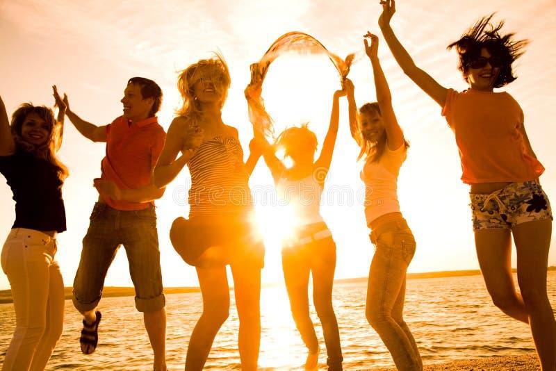 Partij op strand royalty-vrije stock afbeelding