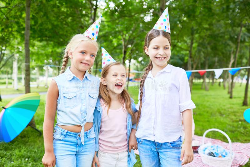 Partij in park royalty-vrije stock foto