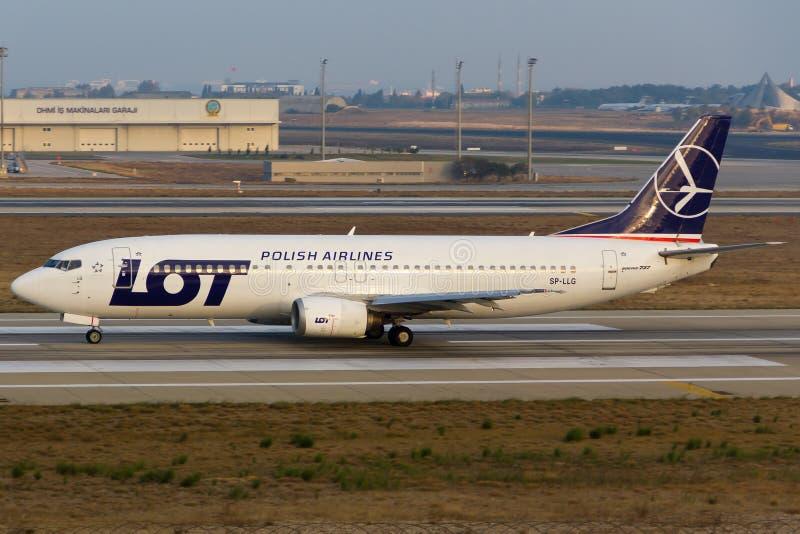 PARTIJ - Poolse Luchtvaartlijnen stock afbeeldingen
