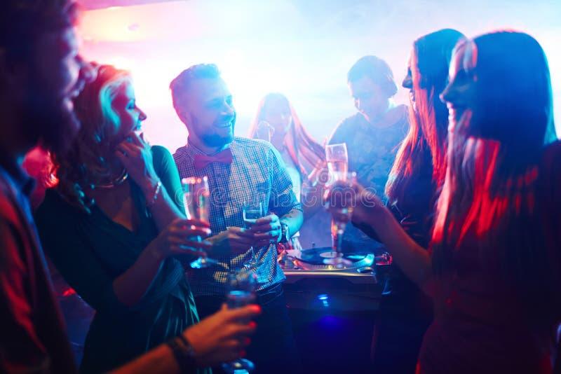 Partij van clubbers royalty-vrije stock foto