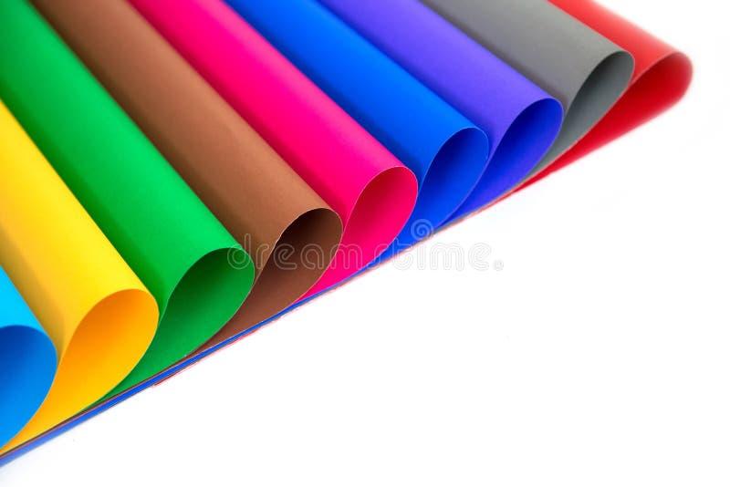 Partij van kleurendocument voor ambachtenidee stock foto