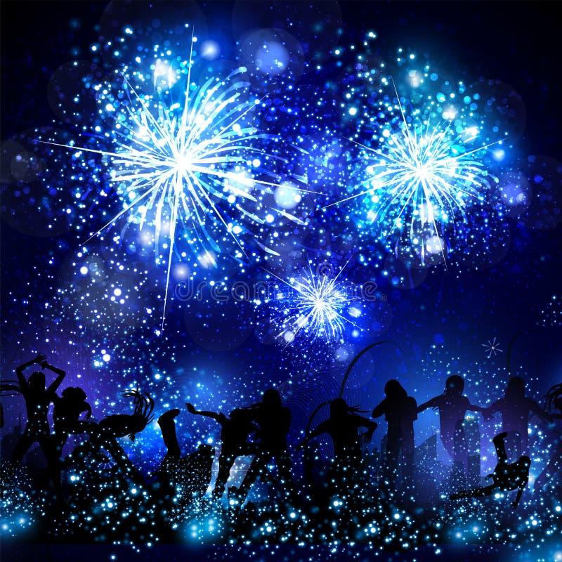 Partijachtergrond, disco, dans, gemakkelijke scène editable allen stock illustratie